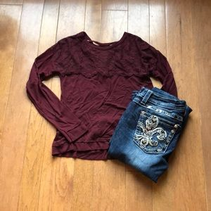 Xhilaration Small sweatshirt mulberry color